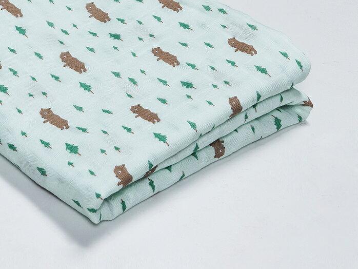 Organic B|有機棉包巾-小熊森林家 120x120cm 有機比比 Unicorn