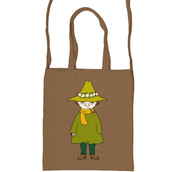 【嚕嚕米Moomin】彩色斜背包-阿金(咖啡軍綠)