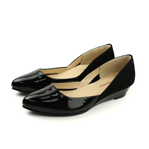 HUMAN PEACE:HUMANPEACE尖頭平底V型女鞋黑色PW1108no596