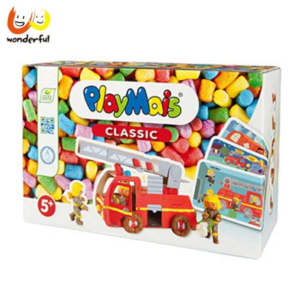 【獨家下殺88折】Playmais玩玉米創意黏土趣味學習盒-3D消防車和消防隊員一起出任務【寶貝樂園】