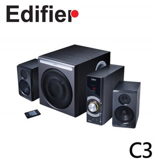 Edifier 漫步者 C3 2.1 三件式聲道電腦喇叭