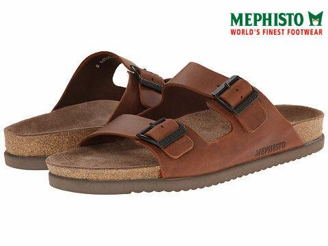 【Mephisto 7折│全店免運】Mephisto 法國類勃肯皮革休閒涼拖鞋 咖啡
