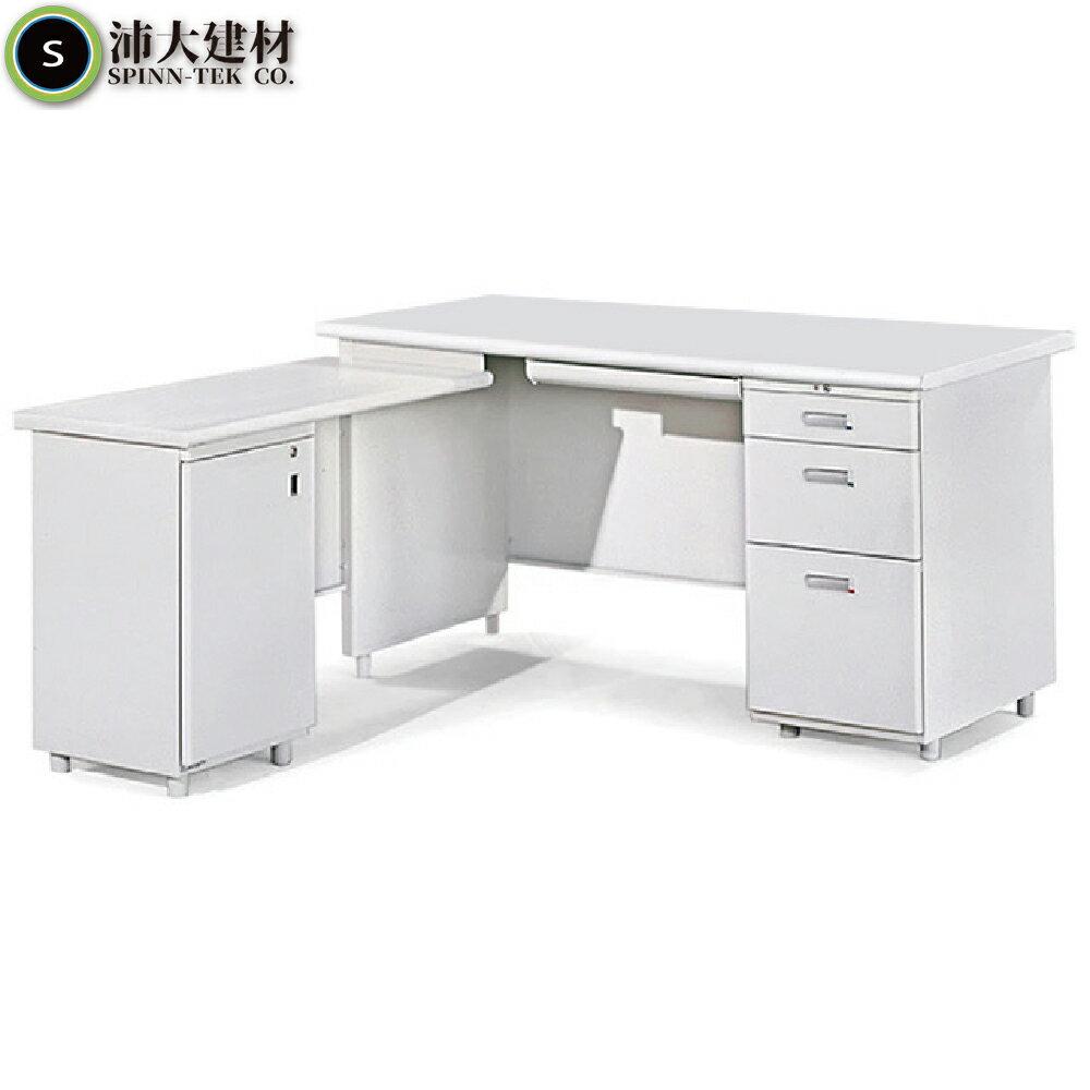 MIT台製 L型辦公桌 150cm側開門 中信局辦公桌 電腦桌 書桌 工作桌 洽談桌 筆電桌 洽談桌 【OY-4025】 0