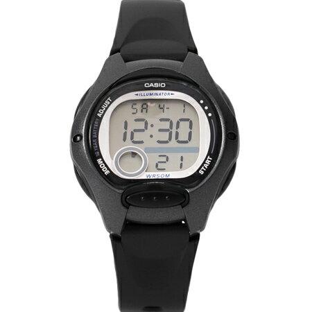 CASIO卡西歐 輕巧黑色多功能休閒運動女腕錶童錶 十年電力系列 柒彩年代【NE1801】原廠公司貨
