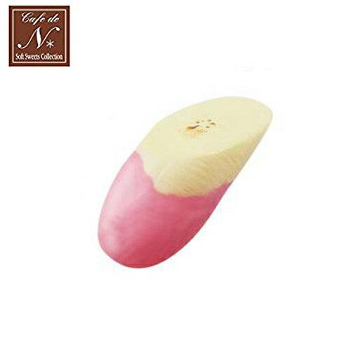 草莓款【日本進口】香蕉片 捏捏吊飾 吊飾 捏捏樂 軟軟 CAFE DE N SQUISHY - 618214