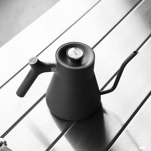 『可刷卡、超商免運』Fellow Stagg 不鏽鋼溫度計手沖細口壺-消光黑 1.2v新版 不銹鋼蓋