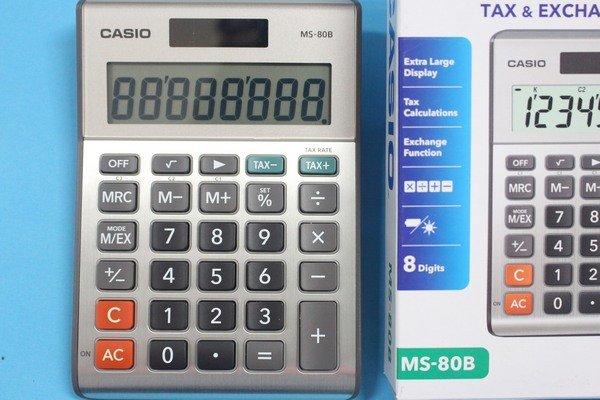 CASIO計算機 MS-80B 8位數桌上小型計算機 (大字幕)8位數/一台入{定499}~快速輸入反應及有稅率鍵~