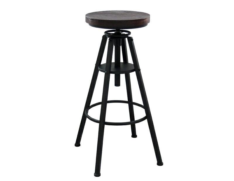 !新生活家具!《樂咖》工業風 旋轉 升降 吧檯椅 鐵椅 復古 商業空間 美式 機械風