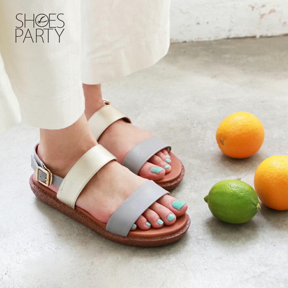 【S2-19627L】Simple+久走不累簡約輕便雙帶涼鞋_Shoes Party 1