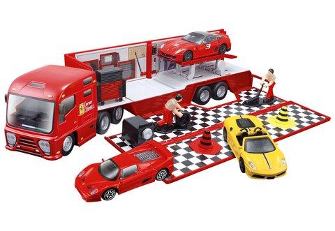 【Bburago】法拉利143豪華拖車賽車組