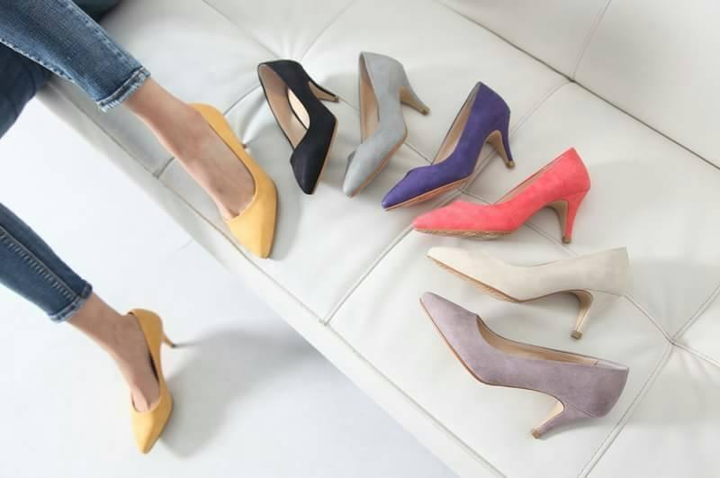 <br/><br/> 馬卡龍色OL高跟鞋 (粉芋色)<br/><br/>
