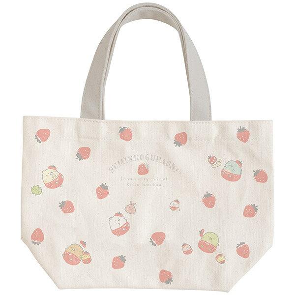 【蘋果小鹿】角落生物-草莓系列  便當提袋 0