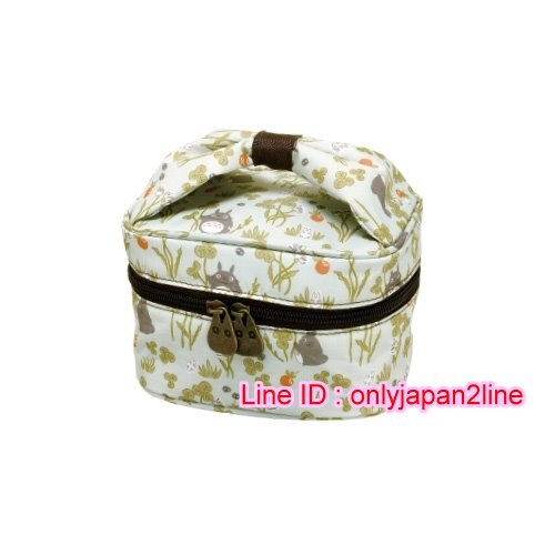 【真愛日本】16101000045收納防水提袋-龍貓幸運草紅梅  龍貓 TOTORO 豆豆龍 手提袋 造型提袋 便當袋