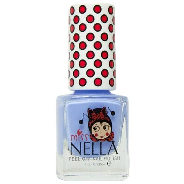 英國【MissNella】妮娜小姐水性可撕式安全指甲油4ml-鈴鐺藍MN12兒童指甲油