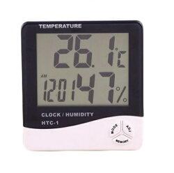 【生活家購物網】電子溫度計 溫濕度計 HTC-1 液晶顯示大螢幕 日曆 時鐘 鬧鈴 攝氏/華氏切換功能