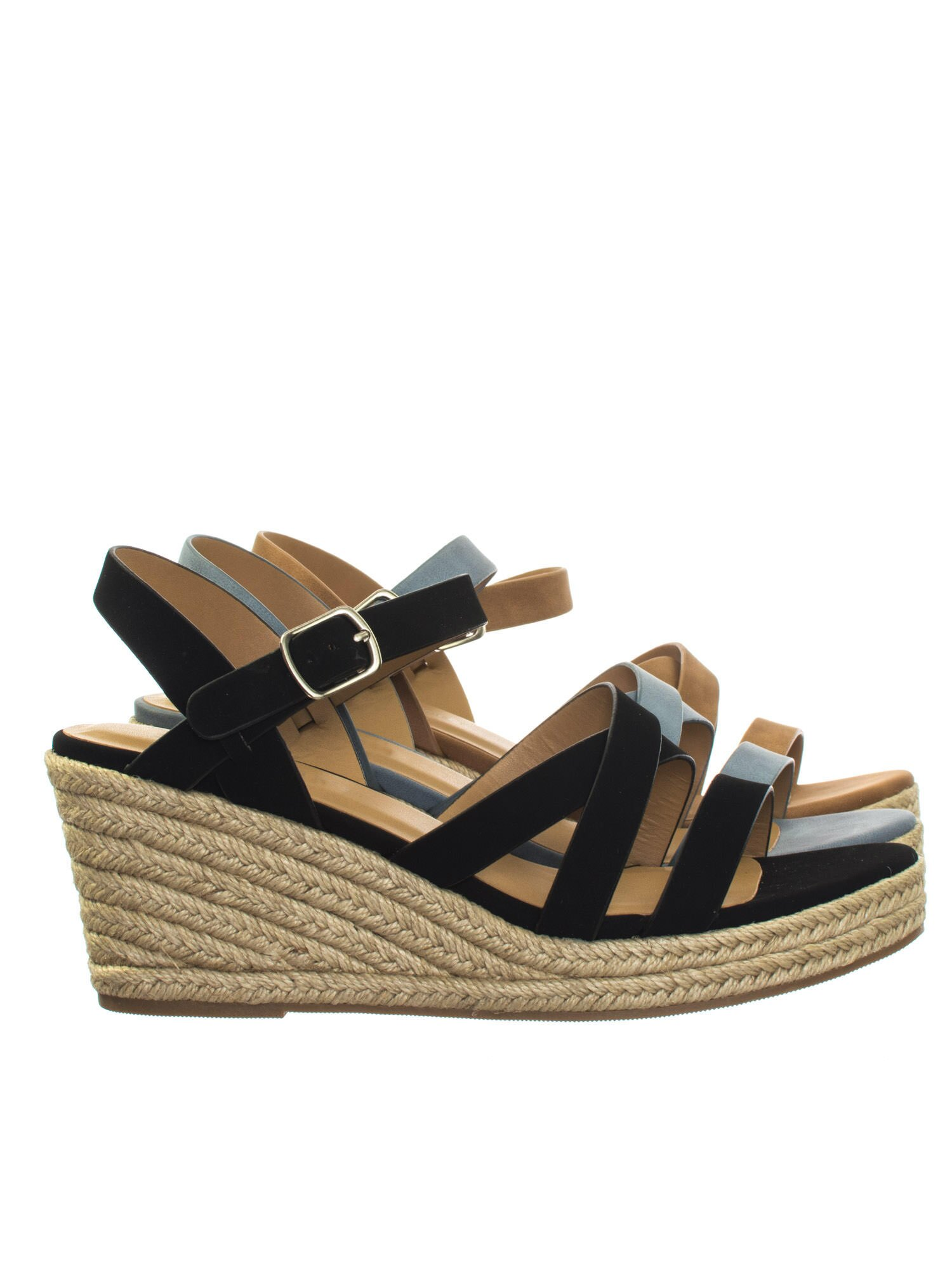 fb91e171915 Jubilee Black by City Classified Espadrille Rope Jute Wrap Platform Wedge  Open Toe Dress Sandal 0