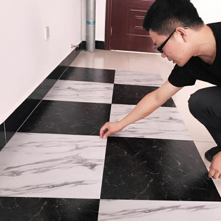 PVC地板貼免膠地板革家用加厚耐磨防水臥室自黏地板貼紙塑膠地板全館促銷限時折扣
