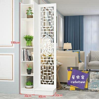 屏風 現代中式簡約家具時尚屏風隔斷客廳臥室餐廳鏤空花座屏玄關隔斷櫃全館折扣限時優惠