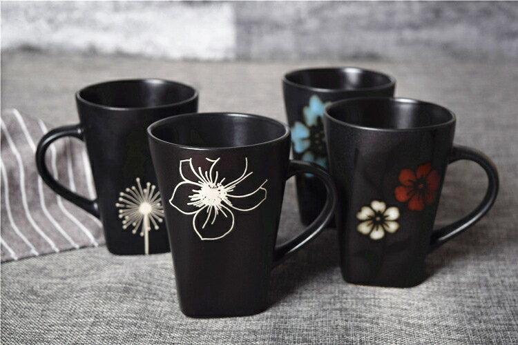 馬克杯 日式手繪陶瓷馬克杯大容量彩色情侶水杯辦公室茶杯經典咖啡杯子全館折扣限時優惠