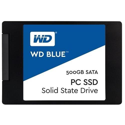 """WD Blue SSD 500GB 2.5"""" SATA III 6Gb/s 7mm Western Digital PC Internal Solid State Drive 545MB/s Maximum Read Transfer Rate 525MB/s Maximum Write Transfer Rate WDS500G1B0A"""