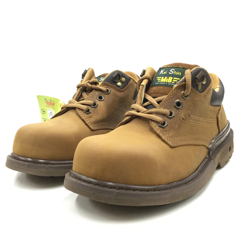 ※555鞋※ KS MIB 574I01-C00 褐色瘋馬皮 氣墊式棕色安全鞋(會呼吸喔)~送襪子乙雙~新增女款5.5號(23.5號)