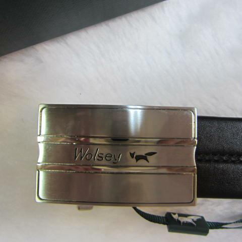 ~雪黛屋~Wolsey 英國專櫃紳士西裝皮帶100%皮革紳士(自動扣內穿式)MIT製附禮盒提袋 WS-560302 黑