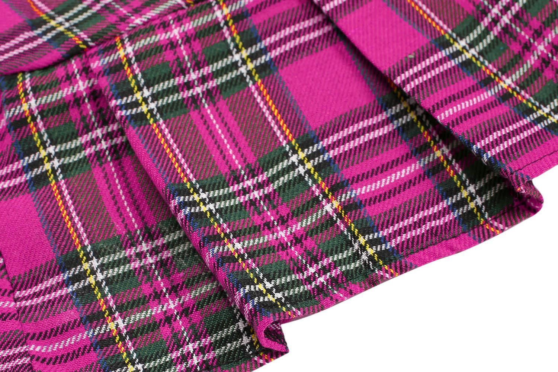 Sexy Lady Schoolgirl Cosplay Sleepwear Plaid Night Mini Pleated Skirt 4