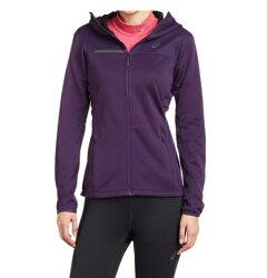 [陽光樂活=] M號一件 ASICS 女運動外套- 刷毛 立領 保暖 亞瑟士 深紫 128347-0291