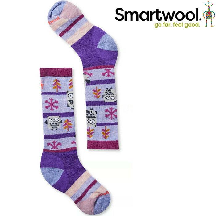 Smartwool 小朋友登山襪/保暖襪/美麗諾羊毛襪 兒童款貓頭鷹滑雪襪 SW001293 C96蘭紫