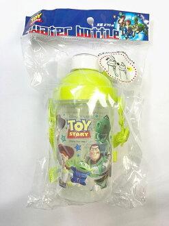 日本 迪士尼 玩具總動員 按壓吸管水壺 270ml 附揹帶 *夏日微風*