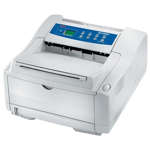 Oki B4350 LED Printer - Monochrome - 23 ppm Mono - 1200 x 600 dpi - USB, Parallel - PC, Mac