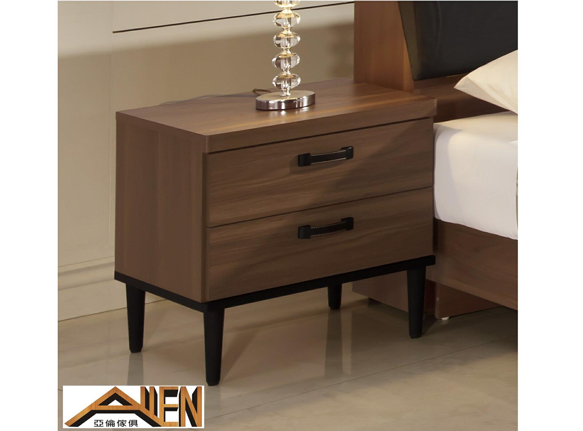 亞倫傢俱*亞當斯立體木紋床頭櫃 0