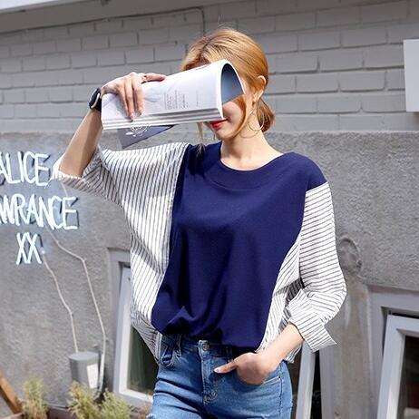 PS Mall 韓國東大門女裝大碼寬鬆襯衫蝙蝠袖長袖T恤~T2797~ ~  好康折扣