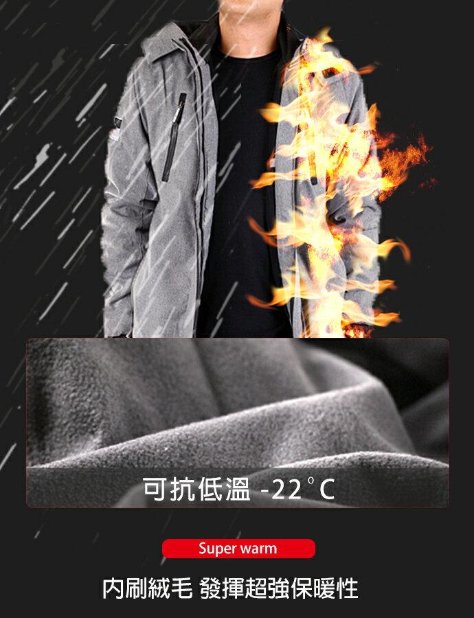 【限時免運!】CS衣舖 同SuperDry版型 高機能 防風 防潑水 內刷毛 可拆帽 雙拉鍊 衝鋒外套 三色 80099 5