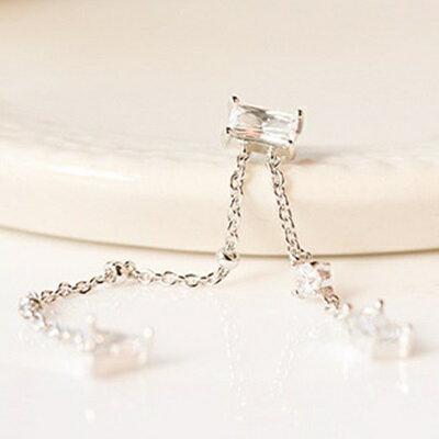 925純銀耳環鑲鑽耳飾~ 氣質長款流蘇情人節生日 女飾品73du32~ ~~米蘭 ~