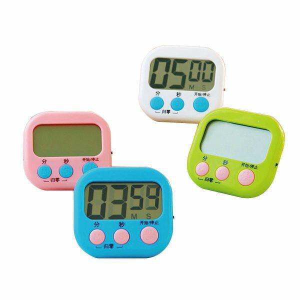 大螢幕廚房電子計時器 烘焙定時器 鬧鐘記時器 提醒器 隨機出貨【WA151】《約翰家庭百貨 1
