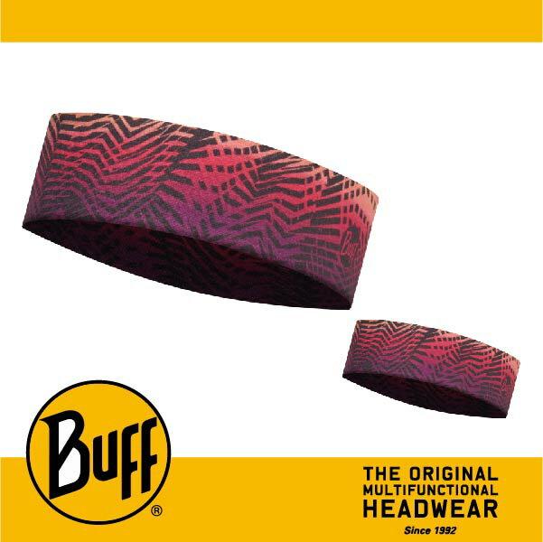 BUFF 西班牙魔術頭巾 Slim頭帶 帽子&頭帶 COOLMAX涼感抗UV系列 [紫黃折線] BF113657-555-10-00
