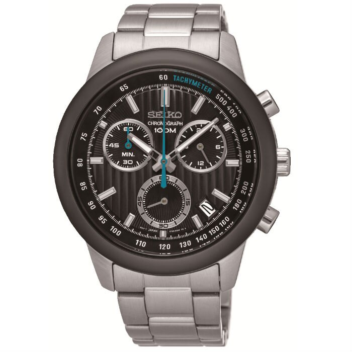 Seiko CS系列 8T68-00A0K(SSB217P1)競速度計時腕錶/黑面42mm