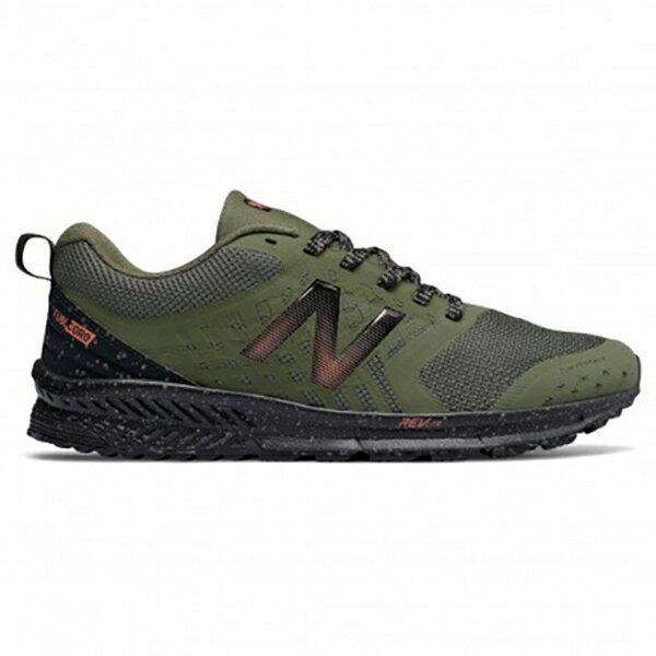 NewBalance男鞋慢跑越野網布耐磨輕量腳趾室保護裝置綠【運動世界】MTNTRRG1