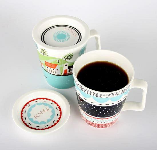 韓國 KANU 炭焙無糖黑咖啡 MINI 馬克杯組+隨機贈孔劉杯緣公仔1個【特價】異國精品 3