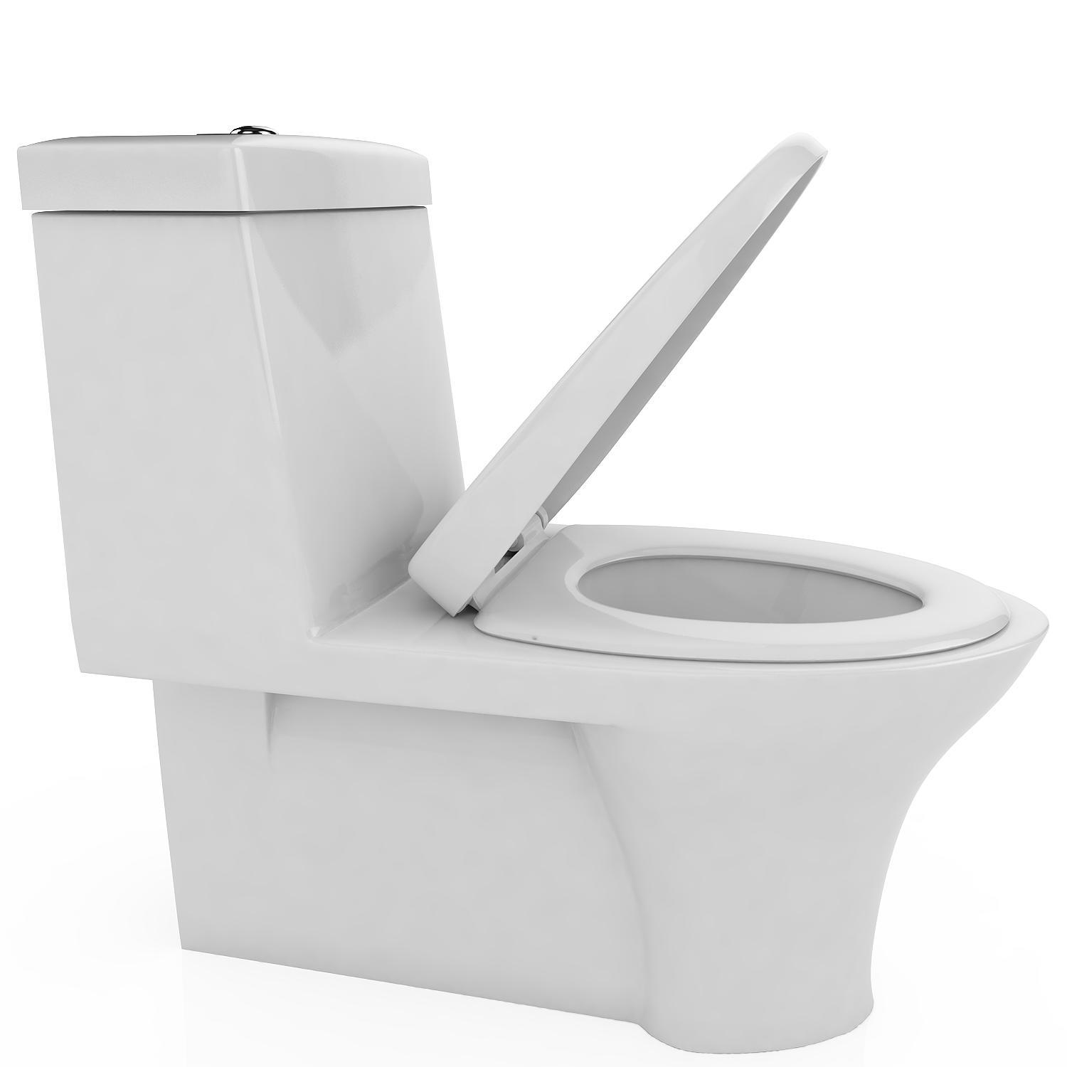 Toilet Seat with Cover U/V/O Shape Soft Close Quick Release Easy Cleaning 2