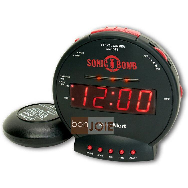 <br/><br/>  ::bonJOIE:: 美國進口 Sonic Alert SBB500SS 震動鬧鐘 (含振動器)(全新盒裝) Bomb Boom 音波炸彈 鬧鈴 靜音 提醒器<br/><br/>
