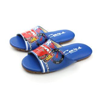 閃電麥坤 Cars 迪士尼 Disney 拖鞋 童鞋 藍色 中童 no894