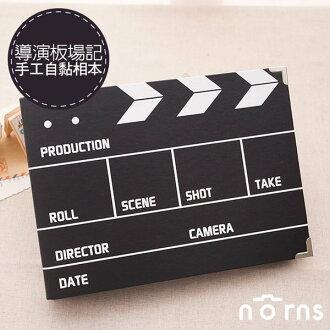 NORNS 【導演板場記手工自黏相本】黑色牛皮紙 拍立得 相冊 相簿 DIY 紀念 禮物