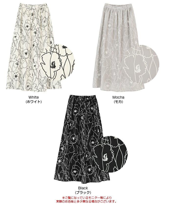 日本Titivate  /  滿版印花腰鬆緊雪紡長裙  /  avjr1100  /  日本必買 日本樂天直送(3590) /  件件含運 1
