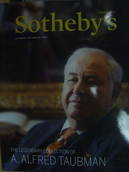 【書寶二手書T4/收藏_YIX】SOTHEBYS_2015/11_A.Alfred Taubman