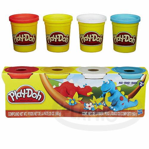 【Playwoods】[培樂多黏土Playdoh]四色組經典款:恐龍兄弟組 (一組內含5盎司4罐/DIY/益智)