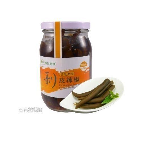 台東原生應用植物園白鶴靈芝剝皮辣椒350g罐