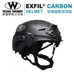 Team Wendy Exfil Carbon 戰術碳纖維防撞頭盔_黑色Size1 (補貨預購中)