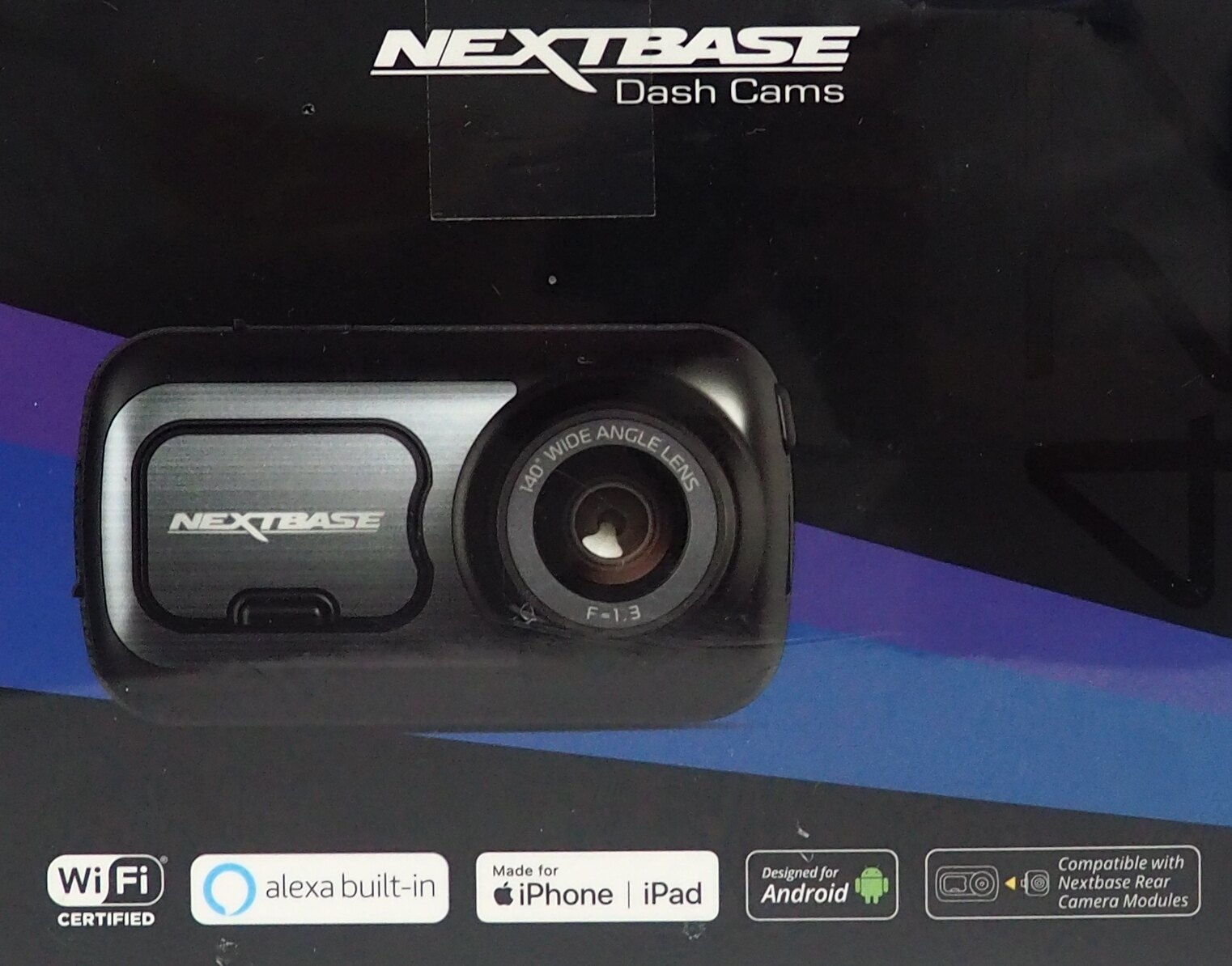 "New Nextbase 322GW Dash Cam 2.5/"" HD 1080p Touch Screen Wifi Fast Free Shipping!"